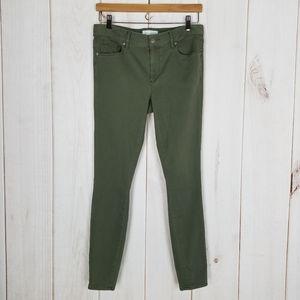 Ann Taylor LOFT   Army Green Skinny Pants Size 6
